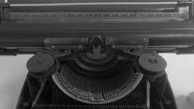 Parte di vecchia macchina da scrivere Fotografie Stock Libere da Diritti