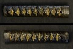 Parte di vecchia spada del samurai Fotografia Stock Libera da Diritti