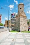 Parte di vecchie fortificazione di Avana e parete, Cuba Immagine Stock