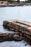 Parte di vecchio pilastro di pietra Immagine Stock Libera da Diritti