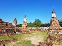 Parte di Wat Mahathat nel parco storico di Ayutthaya thailand Fotografie Stock