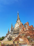 Parte di Wat Phra Sri Sanphet nel parco storico di Ayutthaya Fotografia Stock