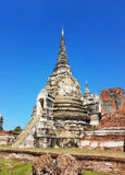 Parte di Wat Phra Sri Sanphet nel parco storico di Ayutthaya Fotografia Stock Libera da Diritti