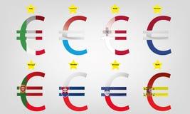 Parte 2 di zona euro Fotografia Stock Libera da Diritti