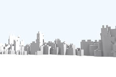 Parte dianteira abstrata da cidade Imagem de Stock Royalty Free