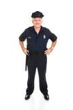 Parte dianteira cheia do corpo do oficial de polícia Imagens de Stock Royalty Free