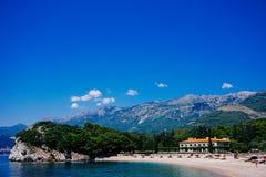 Parte dianteira da água de Montenegro foto de stock