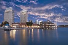 Parte dianteira da água de San Diego Fotos de Stock Royalty Free