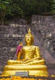 Parte dianteira da Buda, enchida com a luz do ouro Imagem de Stock Royalty Free