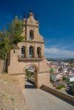 Parte dianteira da entrada ao castelo de Aracena Fotografia de Stock Royalty Free