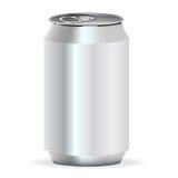 Parte dianteira da lata de soda isolada Ilustração Stock