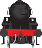 Parte dianteira da locomotiva de vapor Fotos de Stock Royalty Free