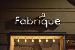 Parte dianteira da loja de Fabrique em Vasastan fotos de stock royalty free