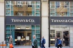 Parte dianteira da loja de Tiffany em Viena Áustria Imagens de Stock Royalty Free