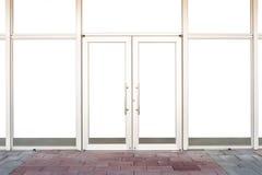 Parte dianteira da loja do boutique da loja com janela grande e lugar para o nome Fotografia de Stock