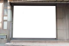 Parte dianteira da loja do boutique da loja com janela grande e lugar para o nome Foto de Stock