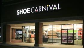Parte dianteira da loja do carnaval da sapata Fotografia de Stock