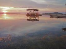 Parte dianteira da praia de Matabungkay Batangas Imagem de Stock