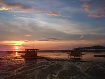 Parte dianteira da praia de Matabungkay Batangas Fotografia de Stock Royalty Free