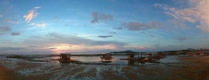 Parte dianteira da praia de Matabungkay Batangas Foto de Stock