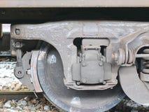 Parte dianteira da roda do trem Foto de Stock
