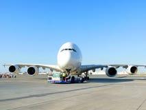 Parte dianteira de Airbus A380 Fotografia de Stock