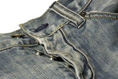 Parte dianteira de calças de ganga Fotografia de Stock