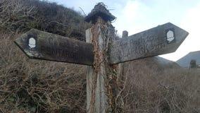 Parte dianteira de mar da vila de Boscastle Imagens de Stock