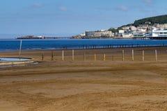 Parte dianteira de mar da Weston-super-Égua Foto de Stock