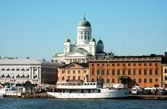 Parte dianteira de mar de Helsínquia Imagem de Stock