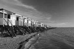 Parte dianteira de mar do louro de Thorpe, perto do em-Mar de Southend-, Essex, Inglaterra Imagem de Stock