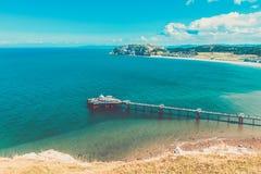 Parte dianteira de mar de Llandudno em Gales norte, Reino Unido fotografia de stock