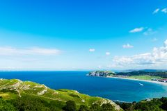 Parte dianteira de mar de Llandudno em Gales norte, Reino Unido foto de stock royalty free