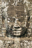 Parte dianteira de pedra da face de Bayon Imagens de Stock