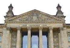 Parte dianteira de Reichstag foto de stock