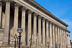 Parte dianteira de St Georges Salão, Liverpool, Reino Unido imagens de stock royalty free