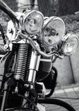 Parte dianteira de uma motocicleta clássica Imagens de Stock Royalty Free