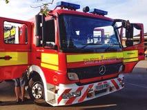 A parte dianteira de uma viatura de incêndio Foto de Stock Royalty Free