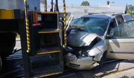 Parte dianteira do acidente de trem Fotografia de Stock Royalty Free