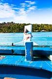 Parte dianteira do barco de pesca fotografia de stock royalty free