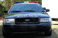 Parte dianteira do carro de polícia Fotografia de Stock Royalty Free