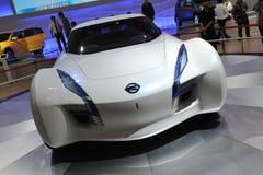Parte dianteira do carro do conceito do esflow de Nissan fotos de stock royalty free