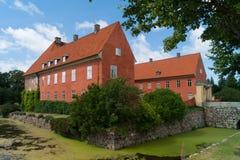 Parte dianteira do castelo de Krapperup Imagem de Stock