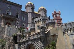 Parte dianteira do castelo de Pena em Sintra Imagem de Stock