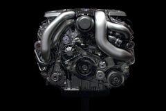 Parte dianteira do cromo do motor de automóveis Foto de Stock