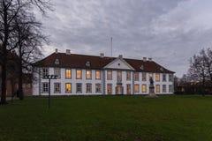 A parte dianteira do entalhe de Odense (castelo), Dinamarca Foto de Stock Royalty Free
