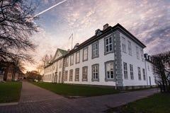 A parte dianteira do entalhe de Odense (castelo), Dinamarca Fotografia de Stock Royalty Free