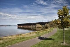 Parte dianteira do lago Ashland Wisconsin imagens de stock