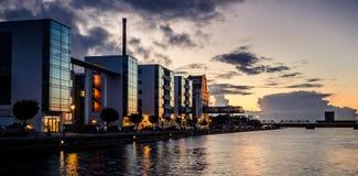 Parte dianteira do porto, Alborgue, Dinamarca Foto de Stock
