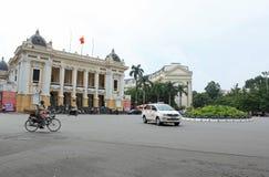 Parte dianteira do teatro da ópera de Hanoi em Hanoi Imagens de Stock